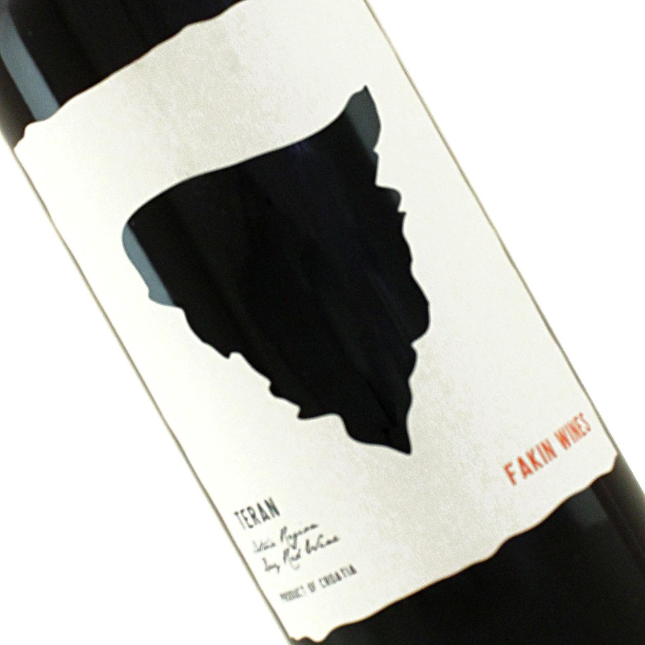 Fakin 2019 Teran Red Wine Istria, Croatia