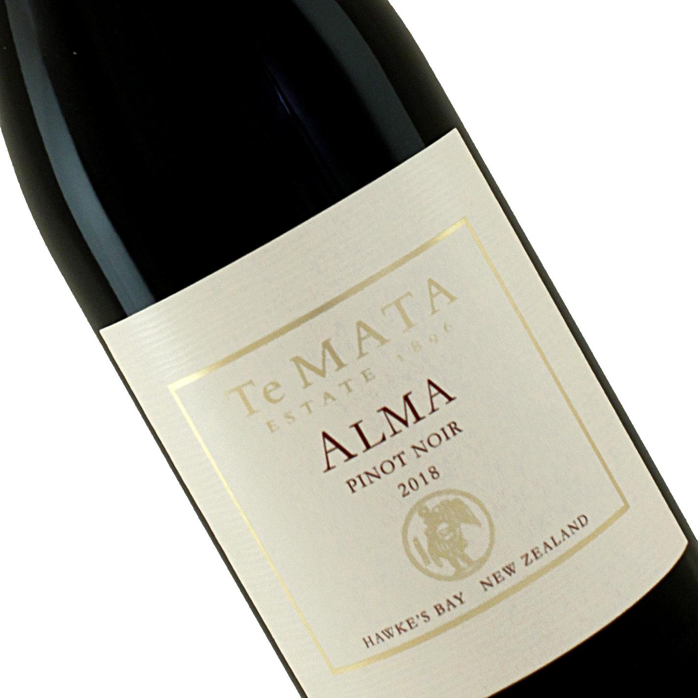 """Te Mata 2018 Pinot Noir """"Alma"""" Hawke's Bay New Zealand"""