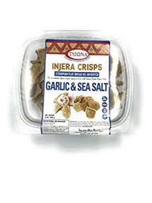 Tsiona Injera Crisps Garlic & Sea Salt, 6 oz