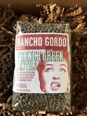 Rancho Gordo French Green Lentils 16oz. Napa, CA