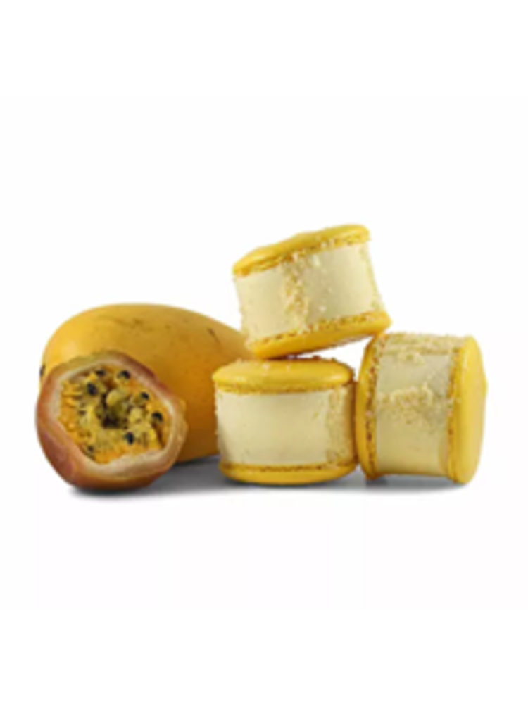 Maven's Macaron Ice Cream Sandwich - Passion Fruit Mango 2.35 oz., San Jose