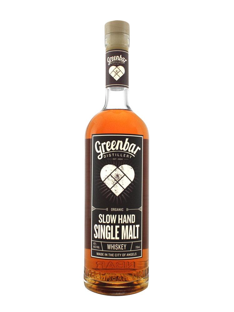 Greenbar Slow Hand Single Malt Whiskey, Los Angeles
