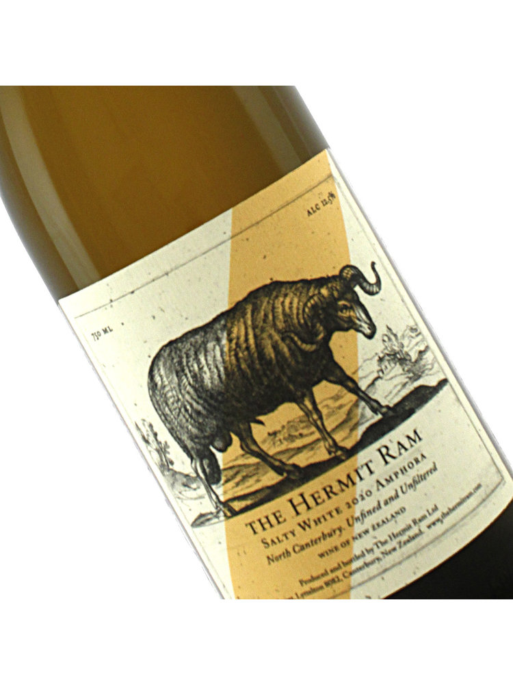 The Hermit Ram 2020 Salty White Amphora Natural, New Zealand