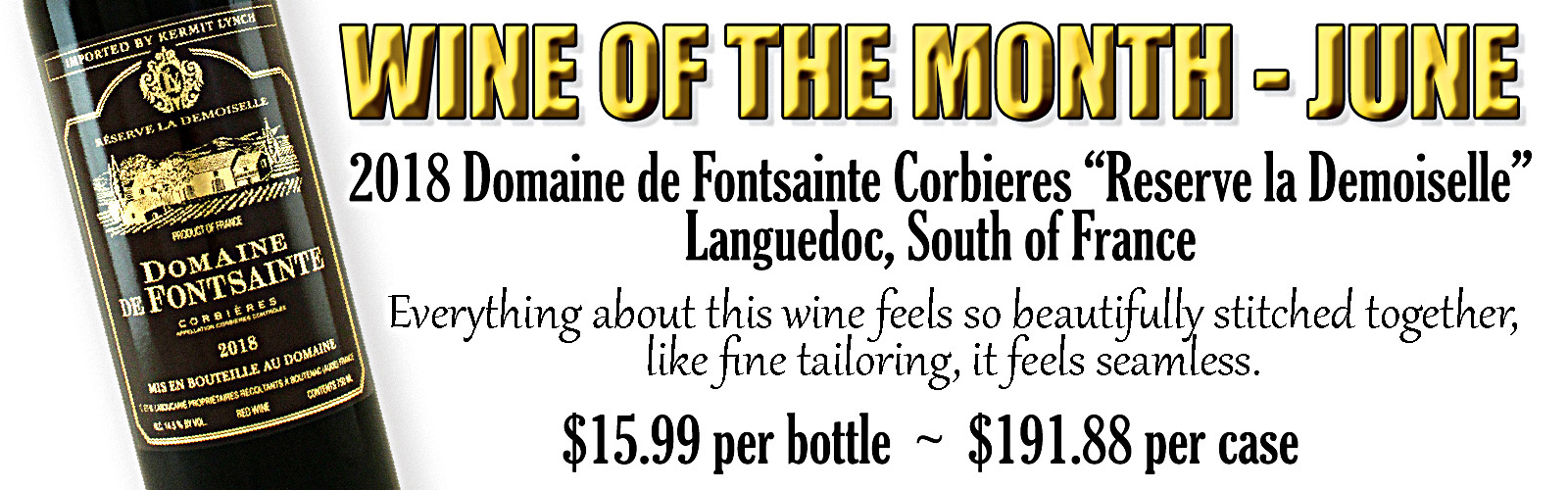 WINE OF THE MONTH - JUNE