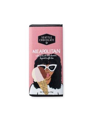 Seattle Chocolate Neapolitan White, Pink and Dark Chocolate Truffle Bar