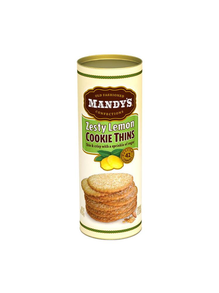 Mandy's Zesty Lemon Cookie Thins, 4.6 oz