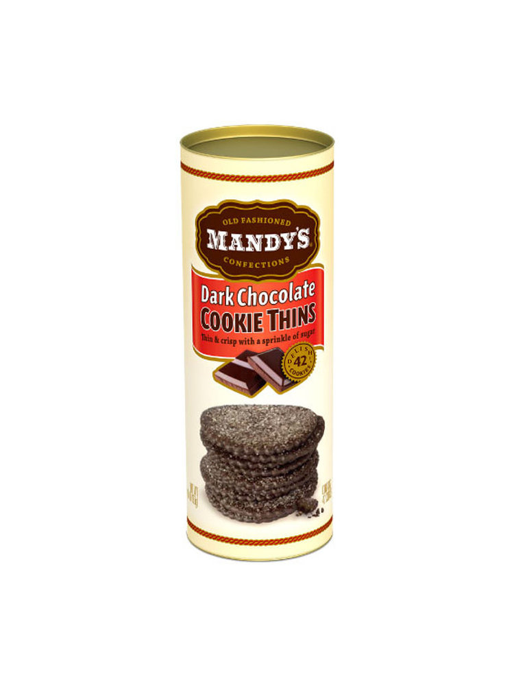 Mandy's Dark Chocolate Cookie Thins, 4.6 oz