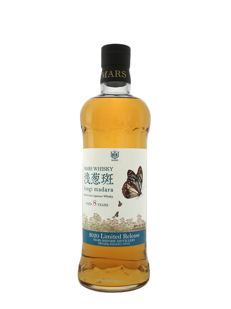 Mars Whisky Asagi Madara Malt & Grain Japanese Whisky, Aged 8 Years