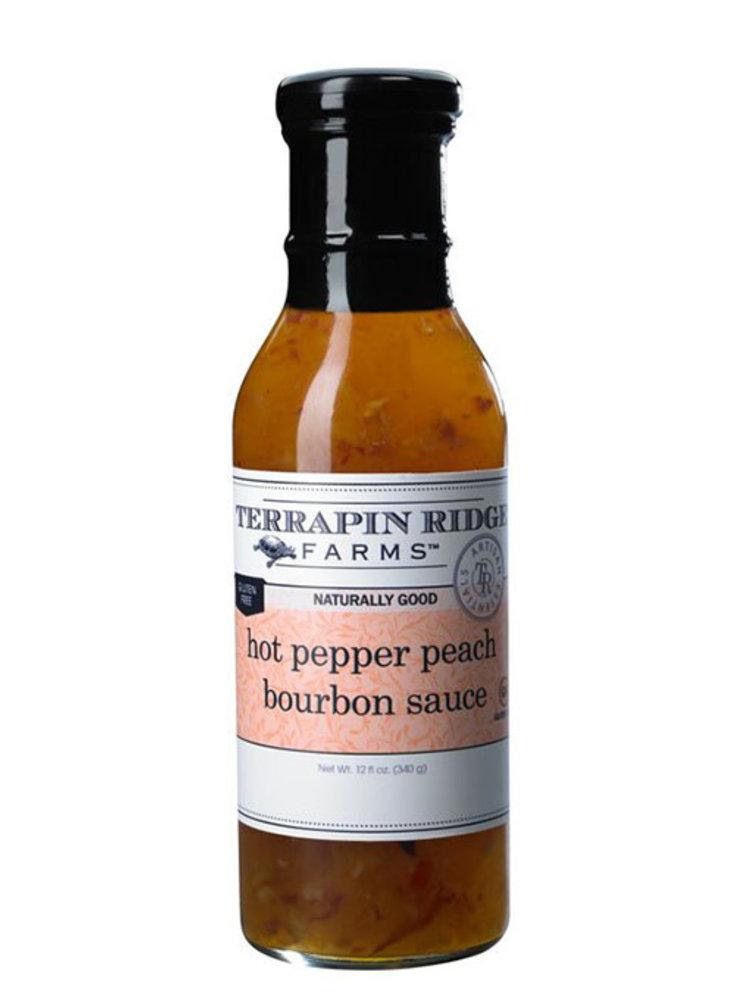Terrapin Ridge Farms Hot Pepper Peach Bourbon Sauce, 12 fl oz