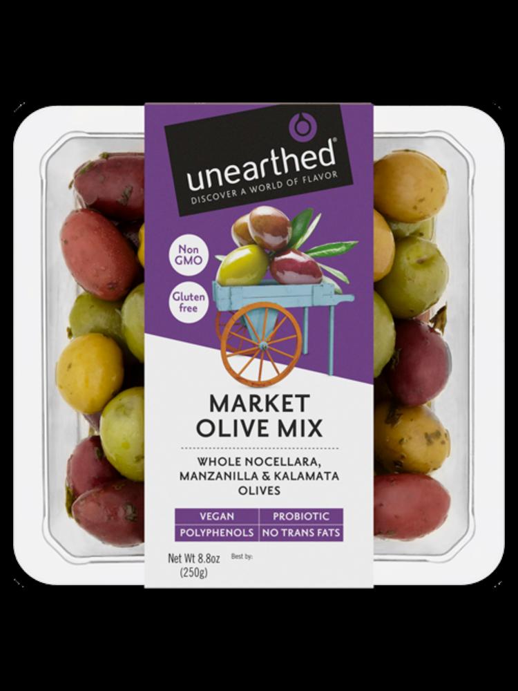 Unearthed  Market Olive Mix, 8.8 oz
