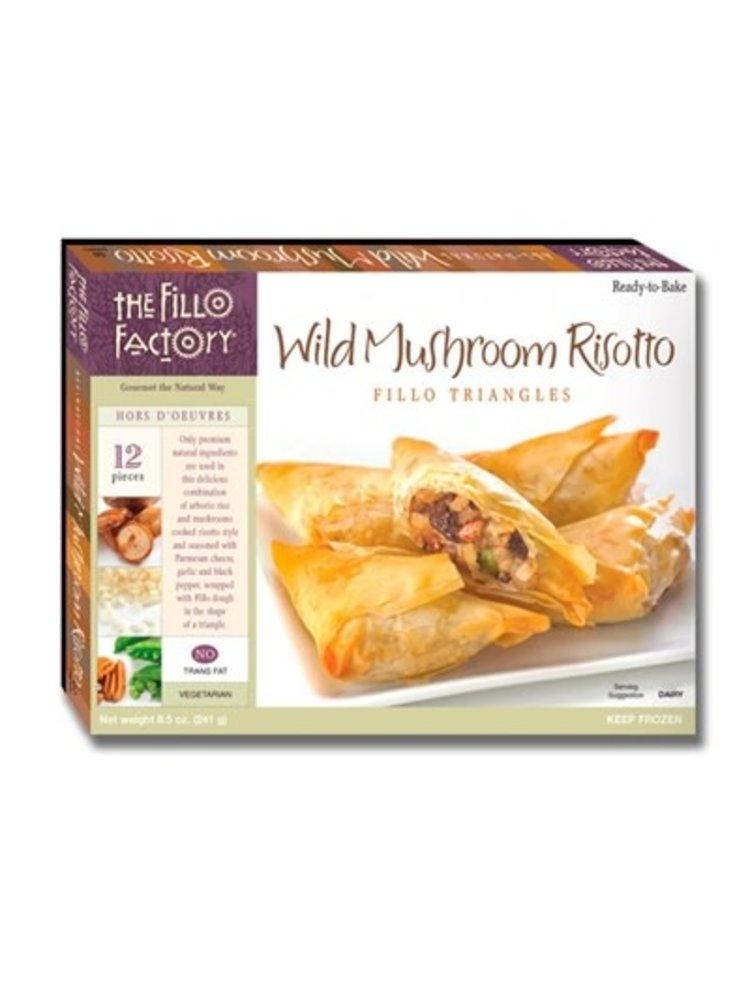 The Fillo Factory, Wild Mushroom Risotto Fillo Triangles, 12 pieces