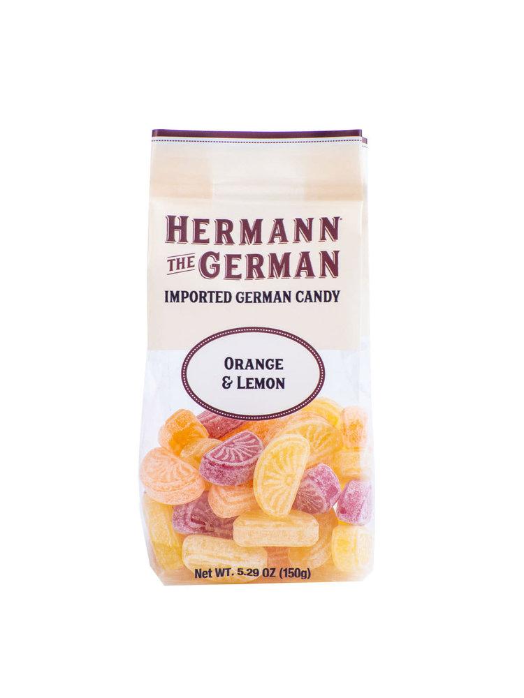 Hermann the German Hard Candies - Orange & Lemon Hard Candy, 5.29 oz