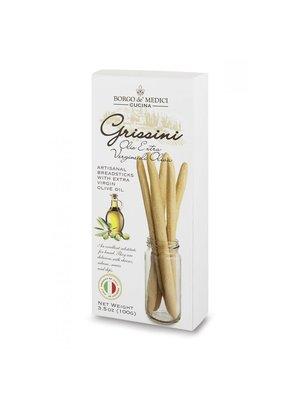 Borgo de' Medici Grissini, Artisanal Breadsticks with Olive Oil, 4.5 oz