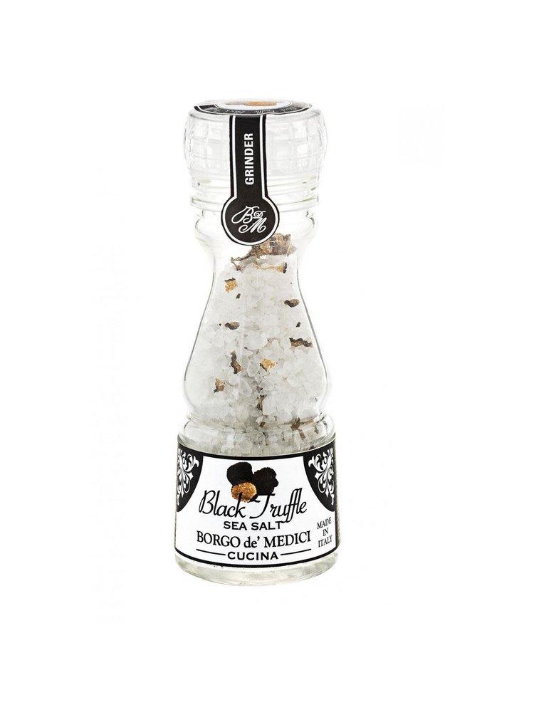Borgo de' Medici Black Truffle Sea Salt with Mini Grinder,  3.3 oz