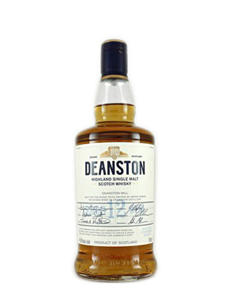 Deanston 12 Year-Old Highland Single Malt Scotch Whisky Un-Chill Filtered