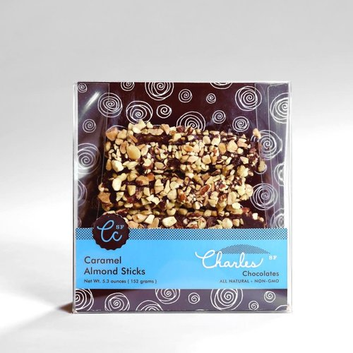 Charles Chocolates, Caramel Almond Sticks, 5.3 oz, San Francisco, CA