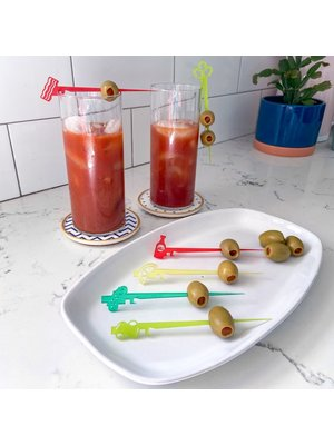 Swizzly Stick Bloody Mary Collection, Set of 6