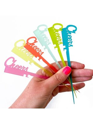 Swizzly Stick Cheers Collection, Set of 6