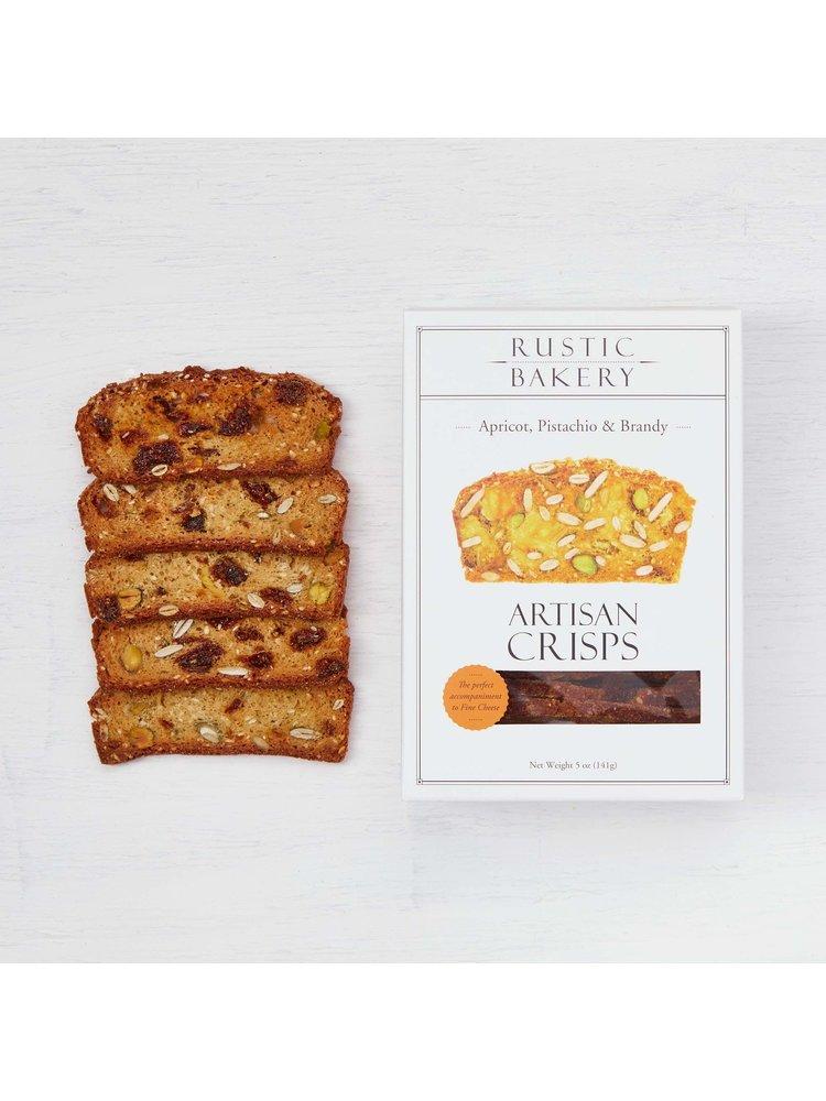 Rustic Bakery Apricot, Pistachio and Brandy Artisan Crisps, 5 oz, Petaluma, California