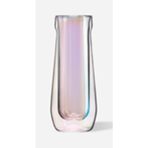 Corkcicle Double-Walled Stemless Prism Flute Glasses, Set of 2, 7 oz each