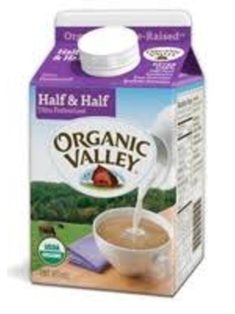 Organic Valley Half & Half, Pint USDA Organic