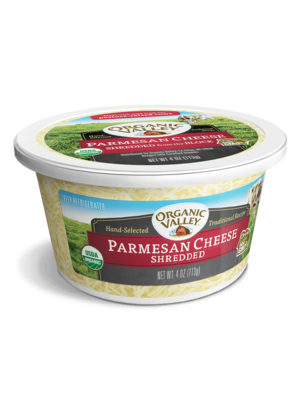 Organic Valley, Shredded Parmesan, 4 oz