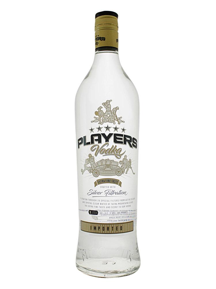 Players Vodka Silver Filtration 1L - Slovak Republic