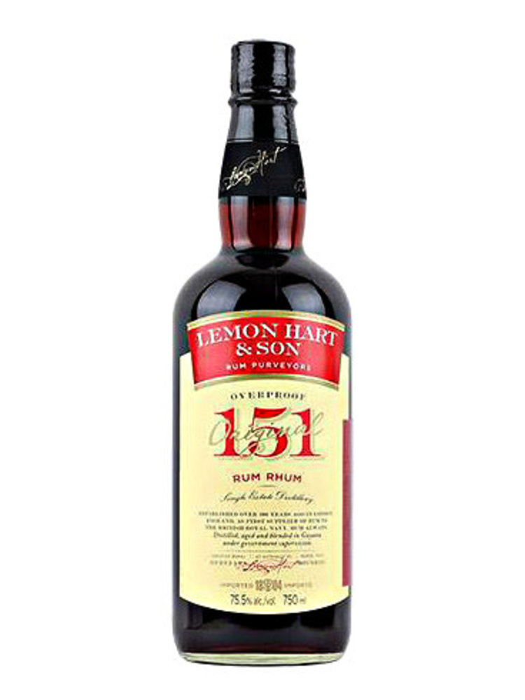 Lemon Hart & Son 151 Rum, Guyana