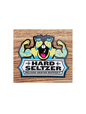 """Belching Beaver Seltzers """"Pretty in Peach, Citrus Hibiscus, Tigers Blood, Concord Crush 12oz can-Oceanside, CA"""