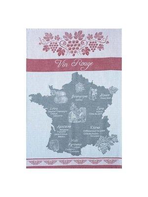 Tea Towel - Red Wine Map