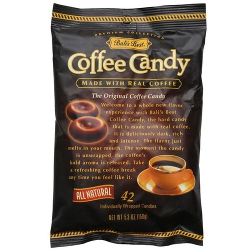 Bali's Best Coffee Candy, 42 Individually Wrapped Candies
