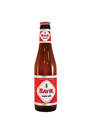 """Bavik """"Super Pils"""" Pilsner Beer 11.2oz bottle, Belgium"""