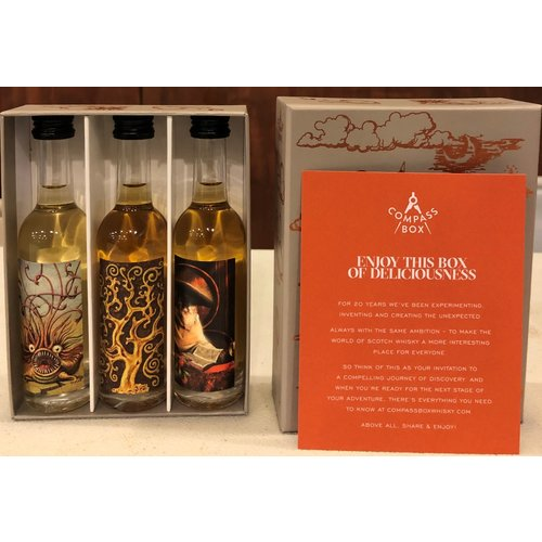 """Compass Box Gift Set """"Malt Whisky Collection"""" The Peat Monster/The Spice Tree/The Spaniard 50ml"""