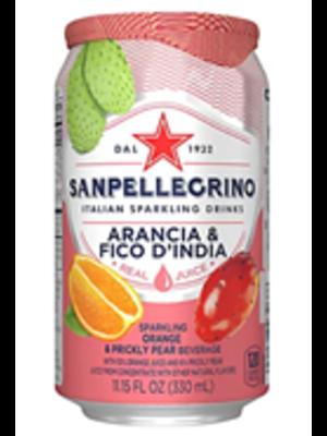 San Pellegrino Arancia & Fico D'India Sparkling Orange & Prickly Pear Soda, 11.15 oz.