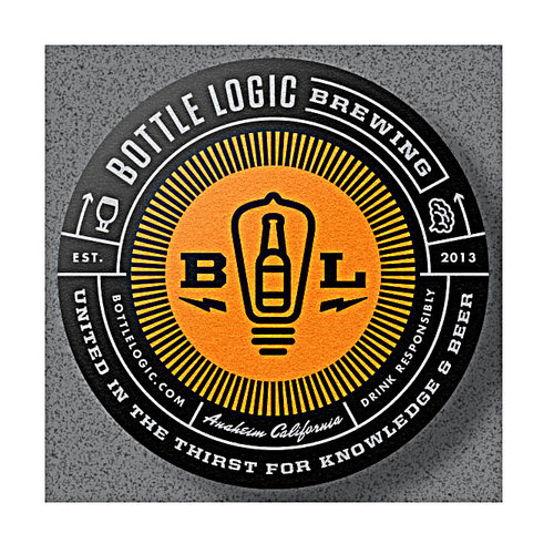 """Bottle Logic Brewing """"Phosphorescence"""" BBA Strong Ale with coconut pineapple and almont 500ml bottle-Anaheim, CA"""
