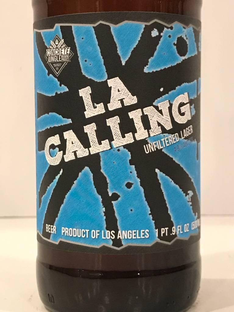 """Concrete Jungle """"LA Calling"""" Unfiltered Lager, California - 16oz can"""