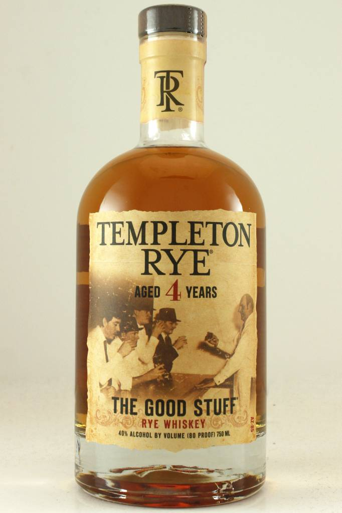 "Templeton Rye Whiskey ""The Good Stuff"" Aged 4 Years"