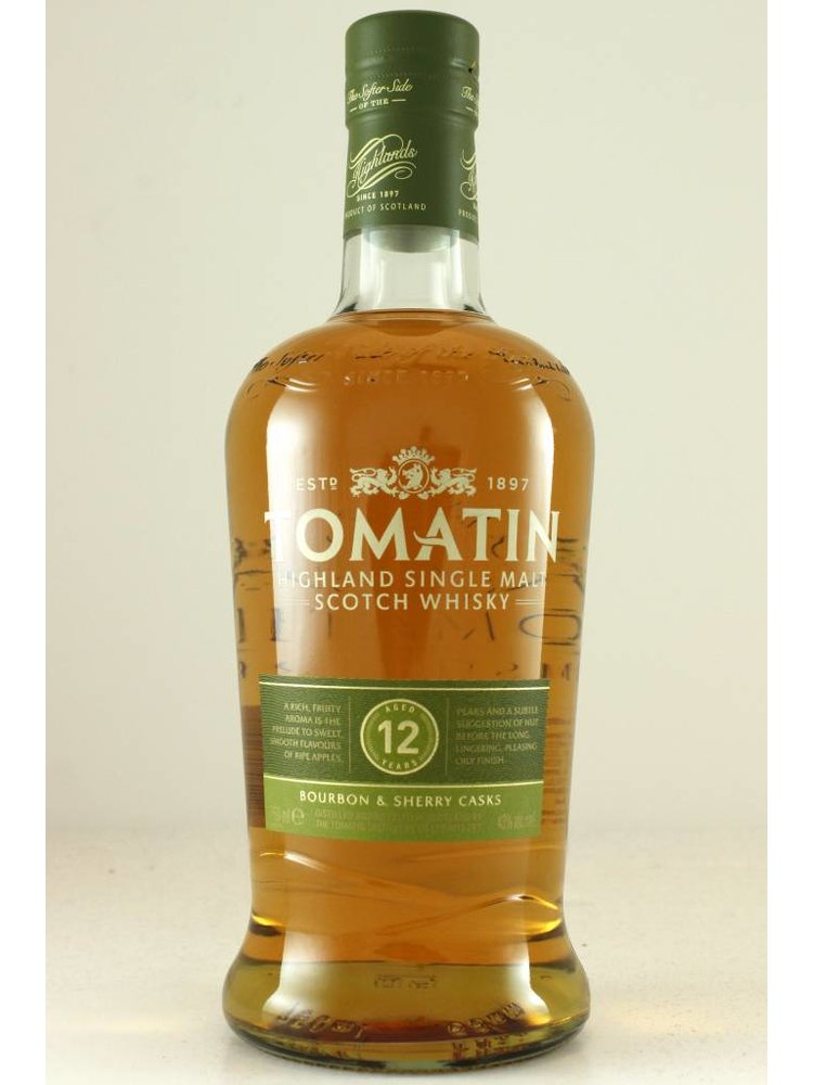 Tomatin 12 year old Highland Single Malt Scotch Whisky