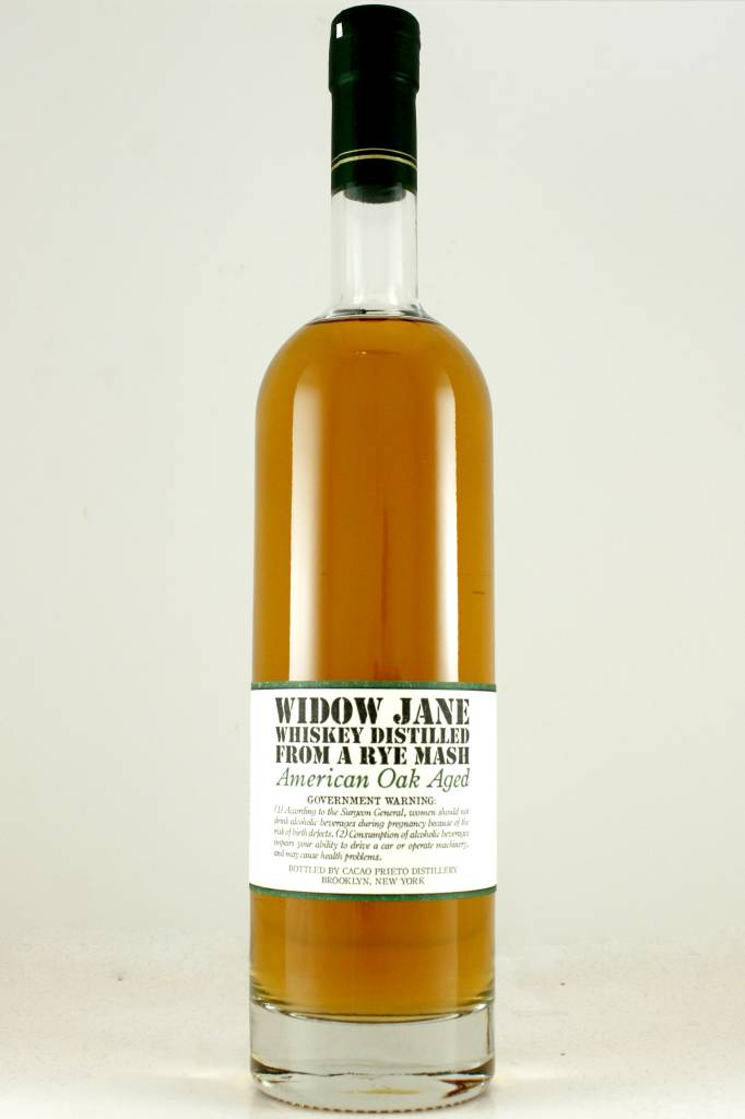 Widow Jane American Oak Aged Rye Whiskey, Brooklyn, New York