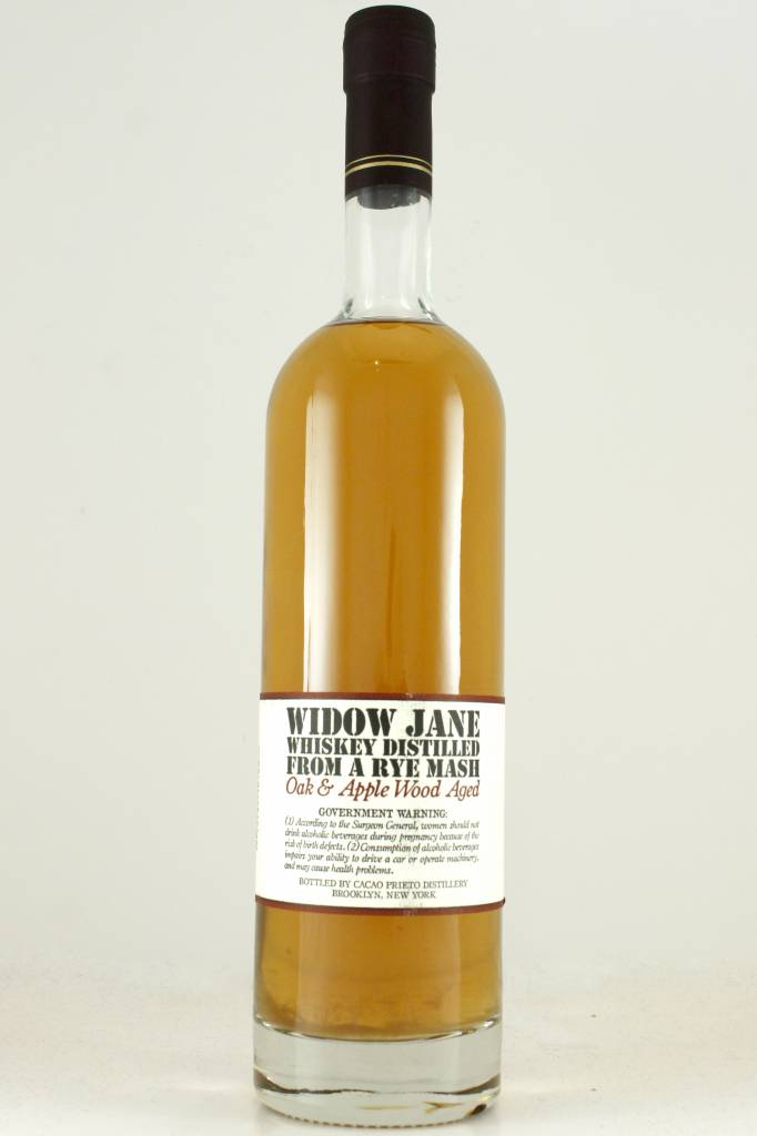Widow Jane Oak & Apple Wood Aged Rye Whiskey
