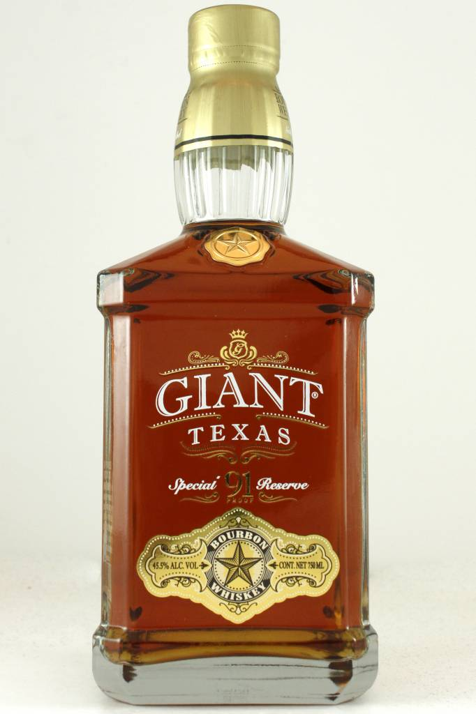 Giant Texas 91 Proof Special Reserve Bourbon Whiskey, Houston, Texas