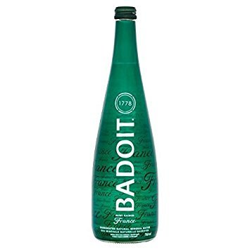 Badoit Sparkling Mineral Water, 750 ml glass bottles, France