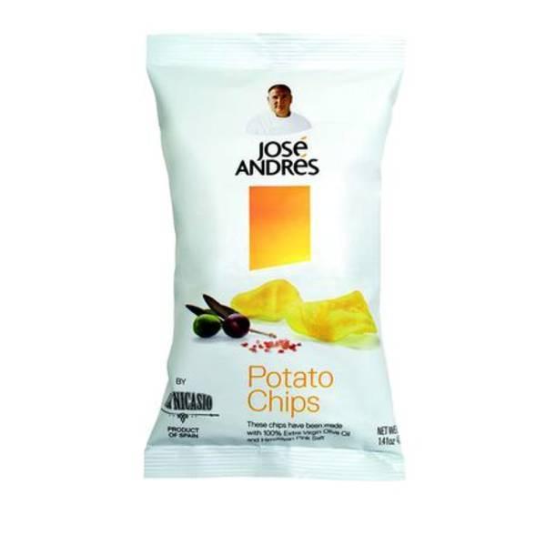 Jose Andres Potato Chips - Extra Virgin Olive Oil and Himilayan Pink Salt 6.7 oz.