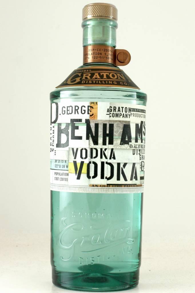 Graton Distilling Benham's Vodka, Graton, Sonoma