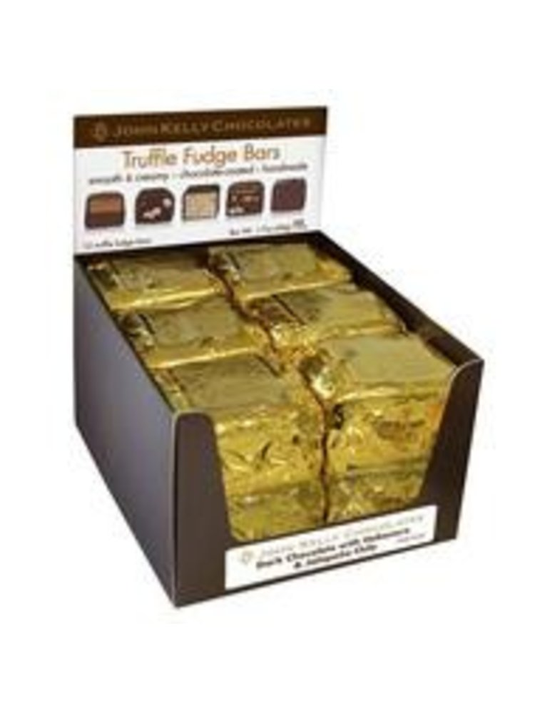 John Kelly 1 pc Semi Sweet Chocolate & Peanut Butter Truffle Fudge, Los Angeles 1.7oz