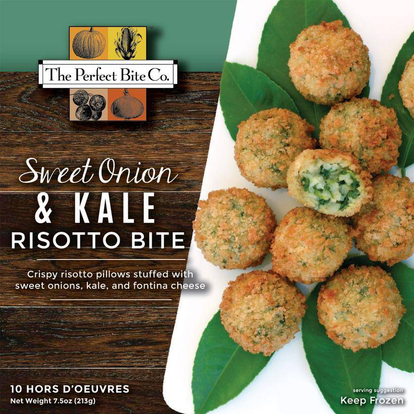 The Perfect Bite Company Sweet Onion & Kale Risotto Bite