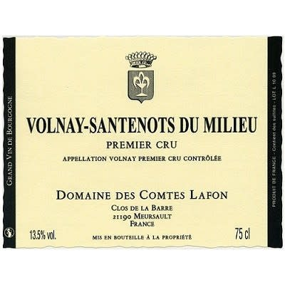 Domaine des Comtes Lafon 2015 Volnay Santenots du Milieu Premier Cru, Burgundy