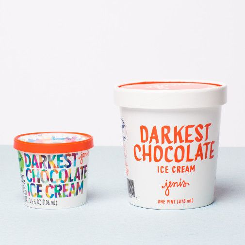 Jeni's Darkest Chocolate Street Treats Ice Cream, Ohio 3.6 oz.