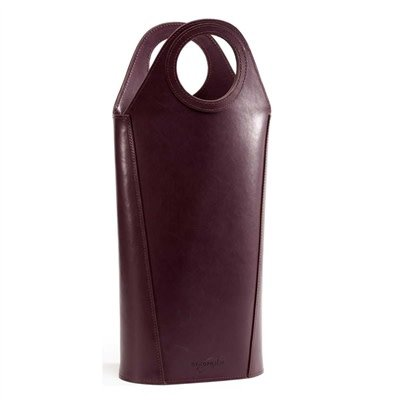Oenophilia Tuscan Two Bottle Tote-Eggplant