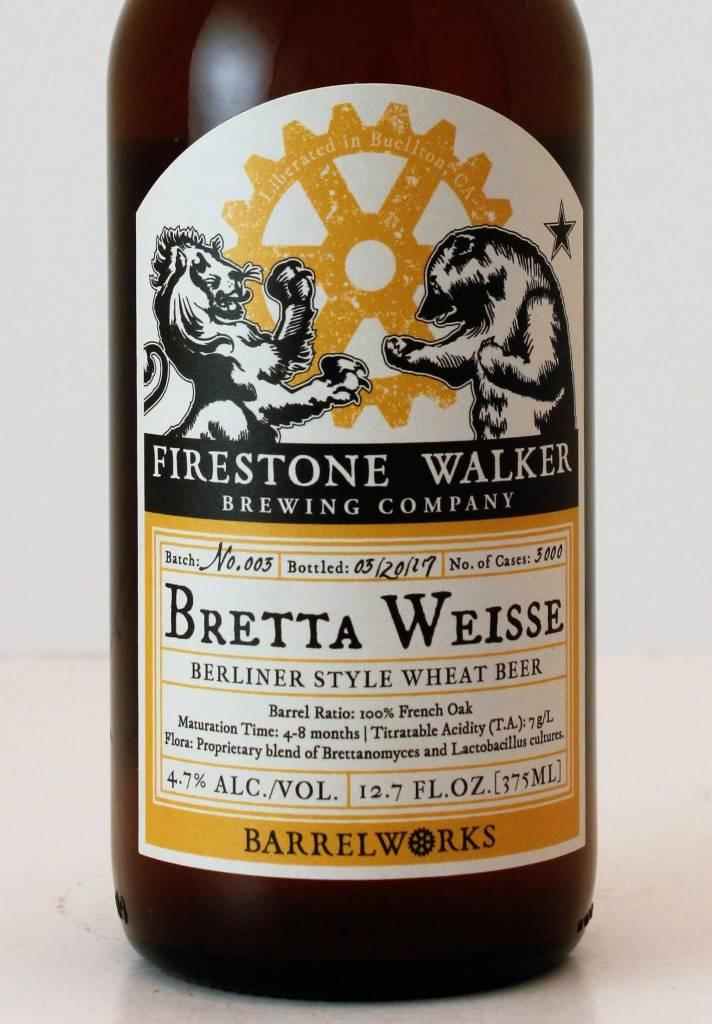 """Firestone Walker Brewing """"Bretta Weisse"""" Berliner Weisse, California"""